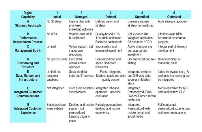 digital marketing plan assess